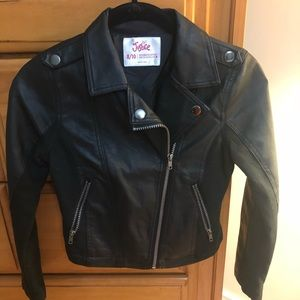 Girl's Pre-owned Justice Moto Jacket Size 8/10